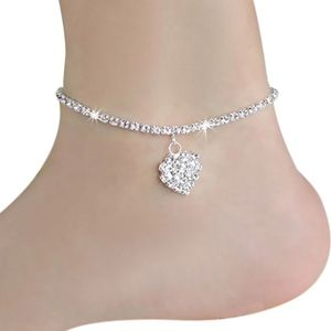 Jewelry - PREVIEW Crystal Heart Ankle Bracelet Anklet